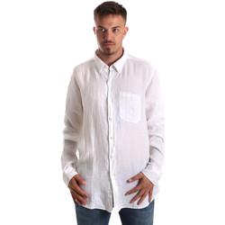 Kleidung Herren Langärmelige Hemden Navigare NV92067 BD Weiß