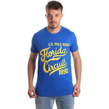 Kleidung Herren T-Shirts U.S Polo Assn. 49351 51340 Blau