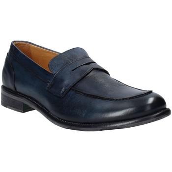 Schuhe Herren Slipper Exton 3106 Blau