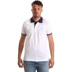 Kleidung Herren Polohemden Key Up 2Q62G 0001 Weiß