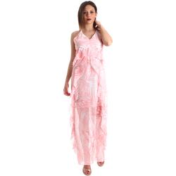 Kleidung Damen Maxikleider Fracomina FR19SP429 Rosa