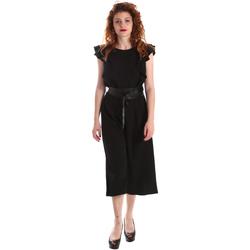 Kleidung Damen Overalls / Latzhosen Fracomina FR19SP662 Schwarz