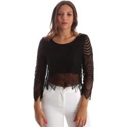 Kleidung Damen Tops / Blusen Fracomina FR19SP099 Schwarz