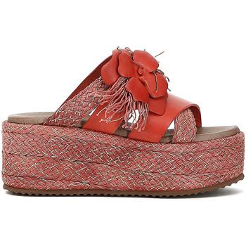 Schuhe Damen Pantoffel Café Noir HG133 Rot