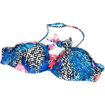 Kleidung Damen Bikini Ober- und Unterteile Ea7 Emporio Armani 912089 9P432 Blau