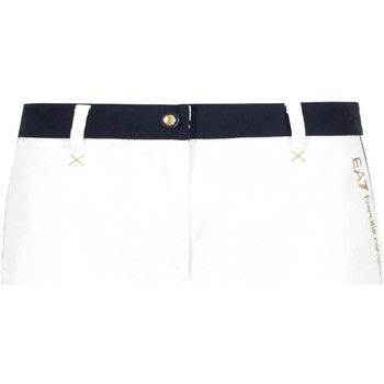 Kleidung Damen Shorts / Bermudas Ea7 Emporio Armani 3GTS02 TN29Z Weiß