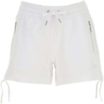 Kleidung Damen Shorts / Bermudas Ea7 Emporio Armani 3GTS52 TJ31Z Weiß