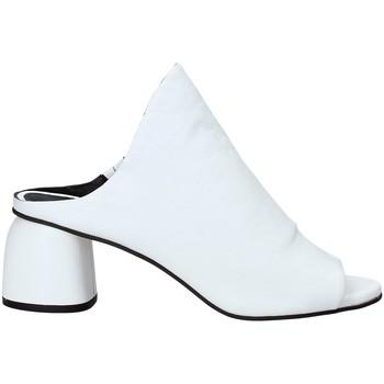 Schuhe Damen Leinen-Pantoletten mit gefloch Elvio Zanon EJ5804X.D Weiß