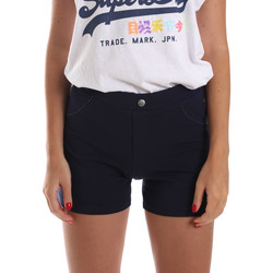 Kleidung Damen Shorts / Bermudas Key Up 5L79G 0001 Blau