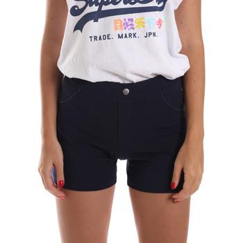 Kleidung Damen Shorts / Bermudas Key Up 5L79G 0001 Blau