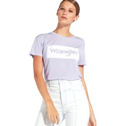 Kleidung Damen T-Shirts Wrangler W7016D Violett