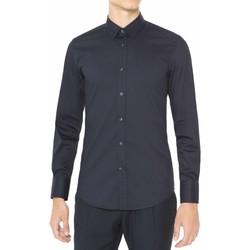 Kleidung Herren Langärmelige Hemden Antony Morato MMSL00375 FA450001 Blau