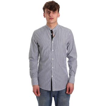 Kleidung Herren Langärmelige Hemden Antony Morato MMSL00588 FA420042 Blau