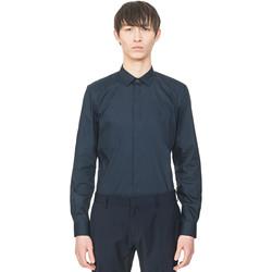 Kleidung Herren Langärmelige Hemden Antony Morato MMSL00293 FA450001 Blau