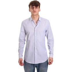 Kleidung Herren Langärmelige Hemden Antony Morato MMSL00596 FA420090 Weiß