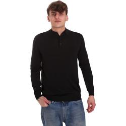 Kleidung Herren Langärmelige Polohemden Antony Morato MMSW01065 YA500057 Schwarz