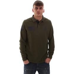 Kleidung Herren Langärmelige Polohemden U.S Polo Assn. 52416 47773 Grün