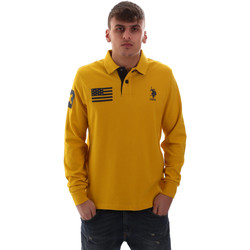 Kleidung Herren Langärmelige Polohemden U.S Polo Assn. 52416 47773 Gelb