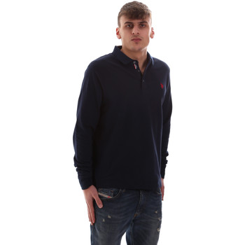 Kleidung Herren Langärmelige Polohemden U.S Polo Assn. 52415 47773 Blau