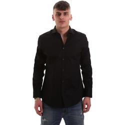 Kleidung Herren Langärmelige Hemden Gaudi 921BU45001 Schwarz