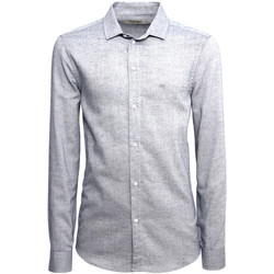 Kleidung Herren Langärmelige Hemden NeroGiardini A973180U Blau