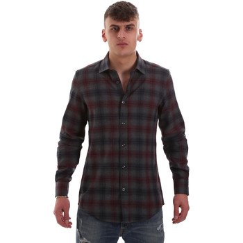 Kleidung Herren Langärmelige Hemden Antony Morato MMSL00548 FA410091 Grau