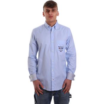Kleidung Herren Langärmelige Hemden Navigare NV91061 BD Blau