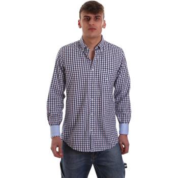Kleidung Herren Langärmelige Hemden Navigare NV91072 BD Blau