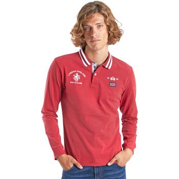Kleidung Herren Langärmelige Polohemden La Martina OMP325 JS005 Rot