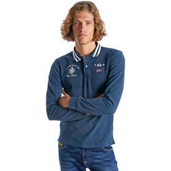 Kleidung Herren Langärmelige Polohemden La Martina OMP325 JS005 Blau