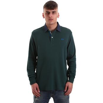 Kleidung Herren Langärmelige Polohemden La Martina OMP007 JS169 Grün
