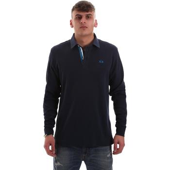 Kleidung Herren Langärmelige Polohemden La Martina OMP007 JS169 Blau