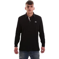 Kleidung Herren Langärmelige Polohemden La Martina OMP007 JS169 Schwarz