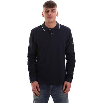 Kleidung Herren Langärmelige Polohemden La Martina OMPM36 JS169 Blau