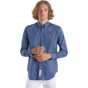 Kleidung Herren Langärmelige Hemden La Martina OMC015 PP461 Blau