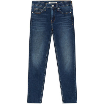 Kleidung Damen Röhrenjeans Calvin Klein Jeans J20J211886 Blau