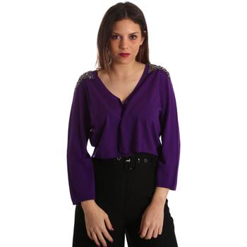 Kleidung Damen Strickjacken Gaudi 921FD53018 Violett