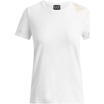 Kleidung Damen T-Shirts Ea7 Emporio Armani 6GTT07 TJ12Z Weiß