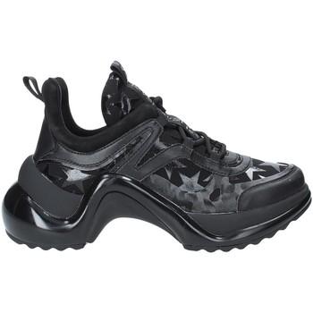 Schuhe Damen Sneaker Low Studio Italia LOVE01 Schwarz