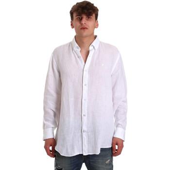 Kleidung Herren Langärmelige Hemden Navigare NV91108 Weiß