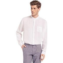 Kleidung Herren Langärmelige Hemden Gaudi 011BU45001 Weiß