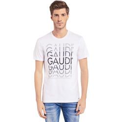 Kleidung Herren T-Shirts Gaudi 011BU64068 Weiß