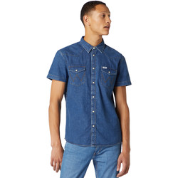 Kleidung Herren Kurzärmelige Hemden Wrangler W5J05D50B Blau