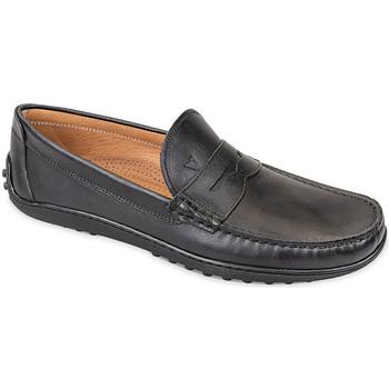 Schuhe Herren Slipper Valleverde 11840 Schwarz