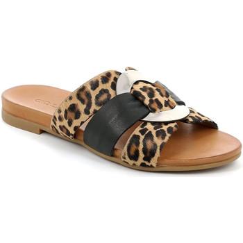 Schuhe Damen Pantoffel Grunland CI2855 Schwarz