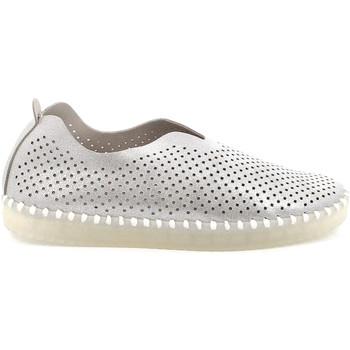 Schuhe Damen Slip on Grunland SC4910 Silber