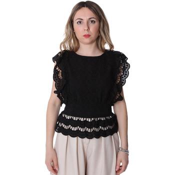 Kleidung Damen Tops / Blusen Fracomina FR20SP586 Schwarz