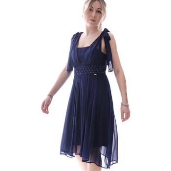 Kleidung Damen Kurze Kleider Fracomina FR20SP599 Blau