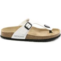 Schuhe Damen Zehensandalen Grunland CB0025 Weiß