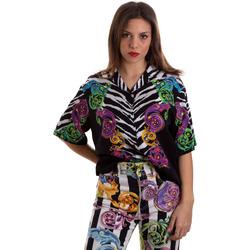 Kleidung Damen Hemden Versace B0HVB604S0793983 Schwarz